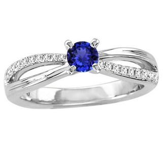white-gold-tanzanite Rings