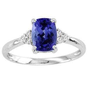 cushion-tanzanite-ring