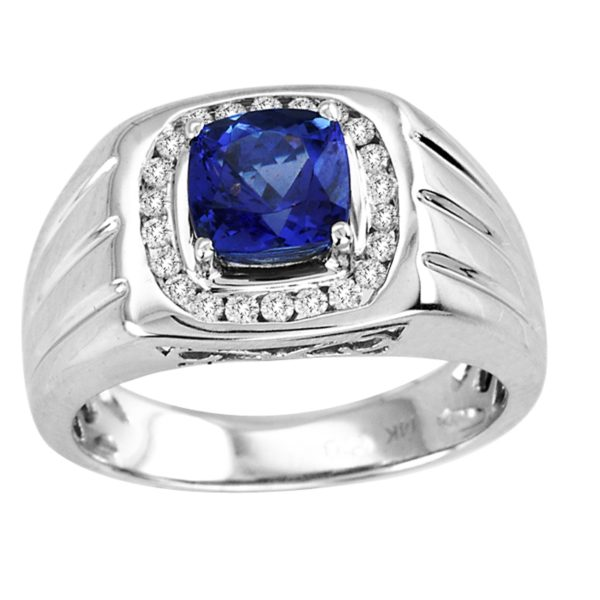 cushion-shape-tanzanite-gents-ring