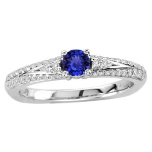 round-shape-tanzanite-ring