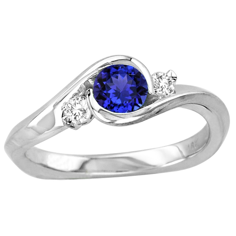 45 carat shape tanzanite ring with 11 ctw diamonds