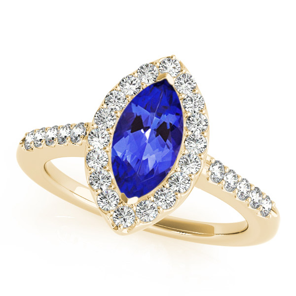 eb6fe30425ddc .22 Carat Marquise Shape Tanzanite Ring With .224 ctw Diamonds in 14k  Yellow Gold in D Grade