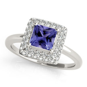 princess-shape-tanzanite-ring