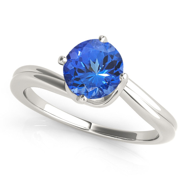 round-shape-tanzanite-solitaire-ring
