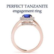 tanzanite diamond engagement rings