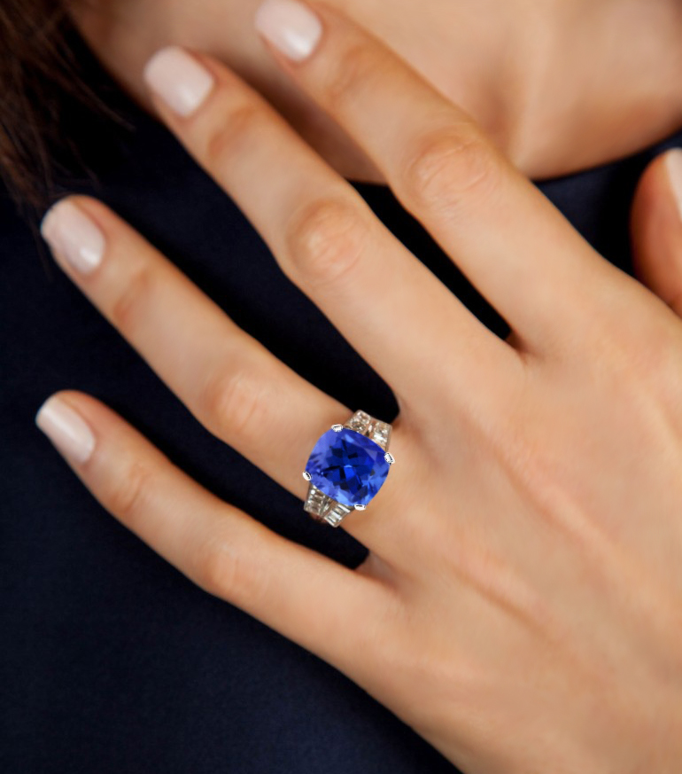wedding ring solitaire tanzanite custom engagement rings